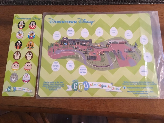 Downtown Disney Egg-stravaganza Map