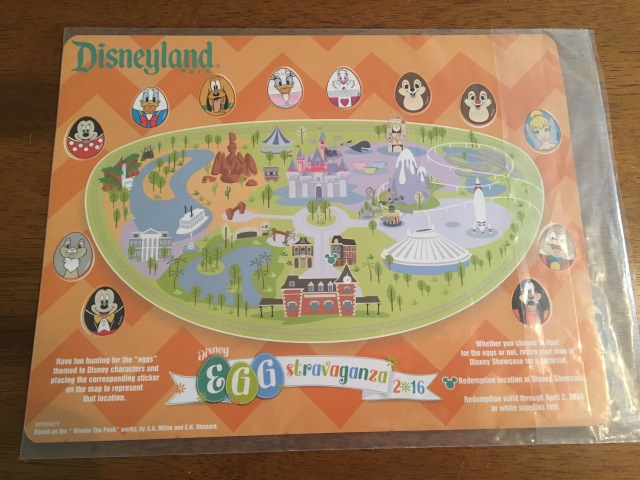 Disneyland Egg-stravaganza Map